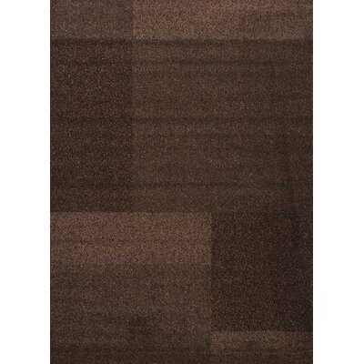 Estella Texture Brown Area Rug Rug Size: 6 x 8