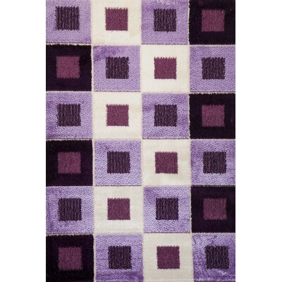 Signature Checkered Purple Area Rug Rug Size: 6 x 8