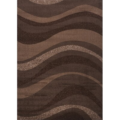 Estella Wavy Brown Area Rug Rug Size: 8 x 11