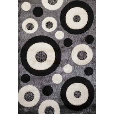 Signature Dots Stone Area Rug Rug Size: Runner 3 x 8