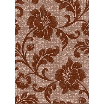 Estella Floral Brown Area Rug Rug Size: 6 x 8
