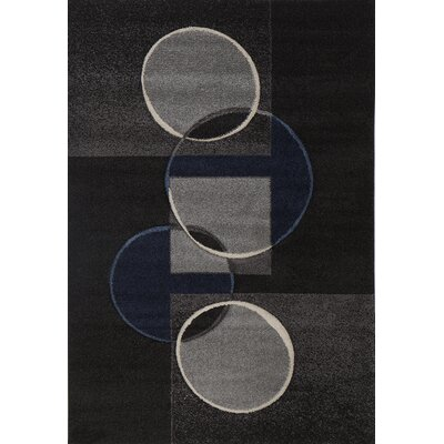 Milano Circle Chain Area Rug Rug Size: 6 x 8