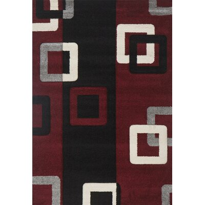 Milano Link Red Area Rug Rug Size: 6 x 8
