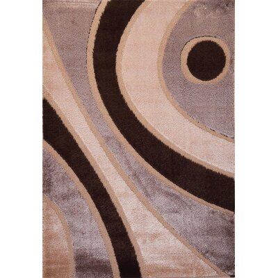 Contempo Modern Brown/Tan Area Rug Rug Size: Runner 3' x 8'