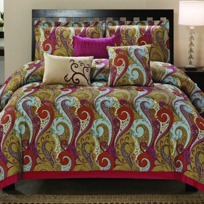 Manchester 6 Piece Comforter Set Size: King