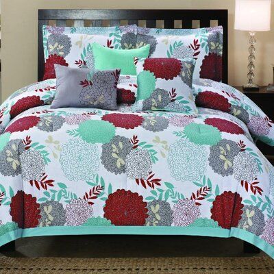 Sarasota 6 Piece Comforter Set Size: King
