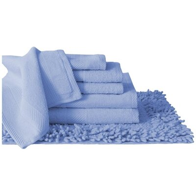 Super Plush Egyptian Quality Cotton 7 Piece Towel Set Color: Blue