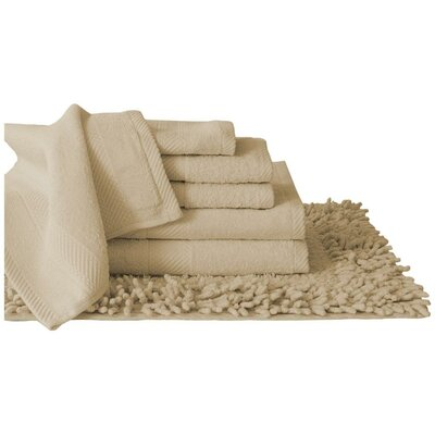 Super Plush Egyptian Quality Cotton 7 Piece Towel Set Color: Taupe