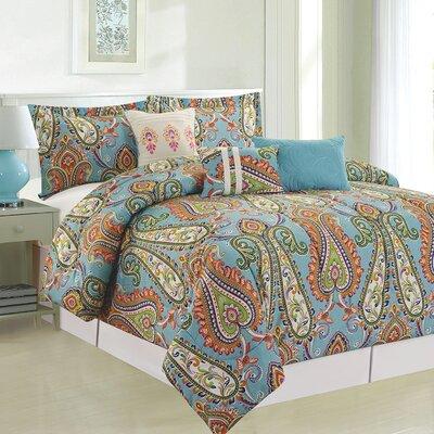 Mystic 6 Piece Comforter Set Size: Queen