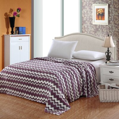 Camessa Throw Blanket Size: King, Color: Purple