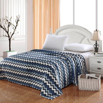 Camessa Throw Blanket Color: Navy, Size: Full