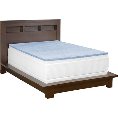 Cooling Gel Memory Foam Combo Topper Size: Queen