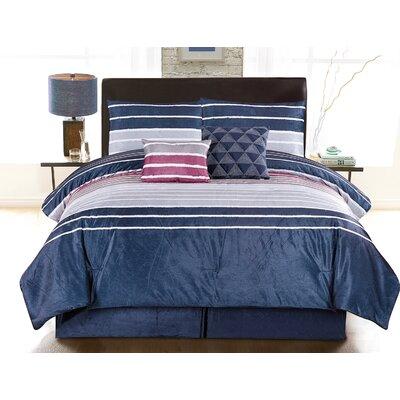 Mila 6 Piece Comforter Set Size: King