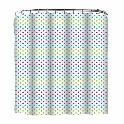Gradient Dots Printed Shower Curtain