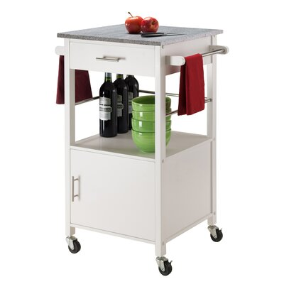 Davenport Kitchen Cart Base Finish: White