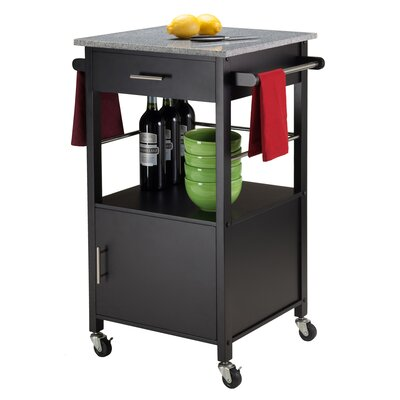 Davenport Kitchen Cart Base Finish: Black