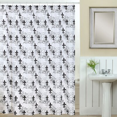 Fleur Di Lis 13 Piece Printed Shower Curtain Set