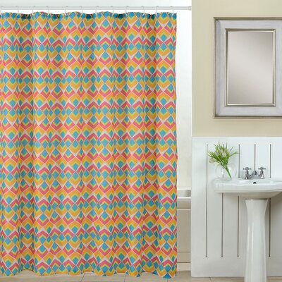 Abstract 13 Piece Printed Shower Curtain Set