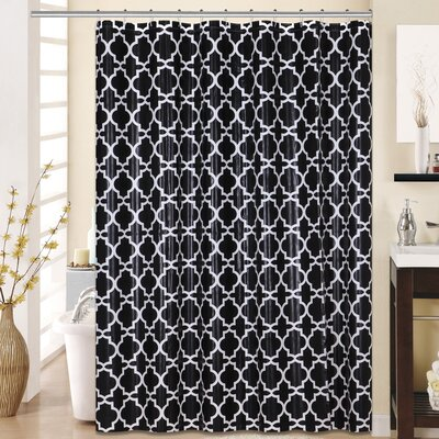 Lattice 13 Piece Printed Peva Shower Curtain Set