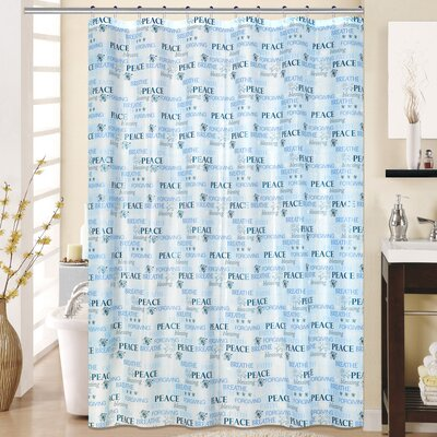 Hope 13 Piece Printed Peva Shower Curtain Set