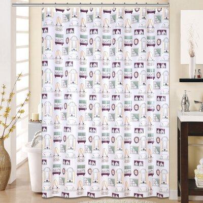 Fantasy 13 Piece Printed Peva Shower Curtain Set