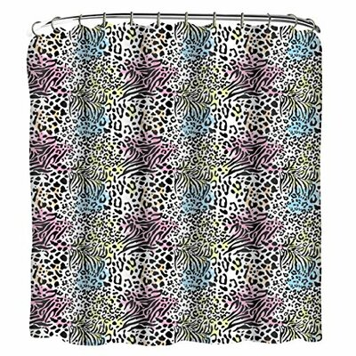 Animal 13 Piece Printed Peva Shower Curtain Set