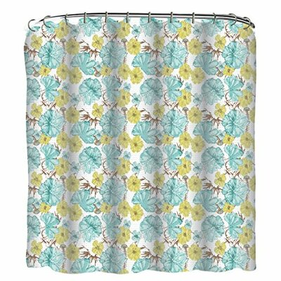 Petal Dot 13 Piece Printed Peva Shower Curtain Set
