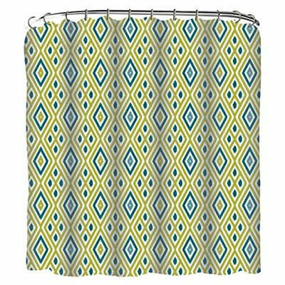Diamons Ikat Printed Shower Curtain