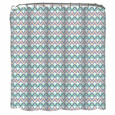 Diamonds 13 Piece Printed Peva Shower Curtain Set