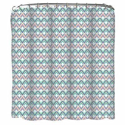 Diamonds 13 Piece Printed Peva Shower Curtain Set
