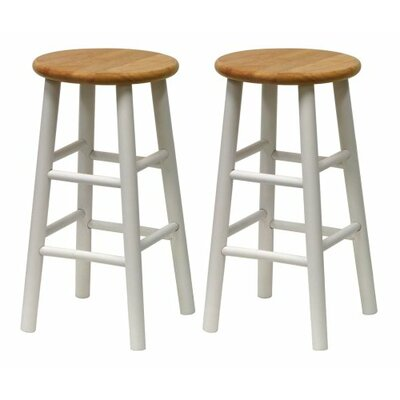24 Bar Stool Finish: Natural/White