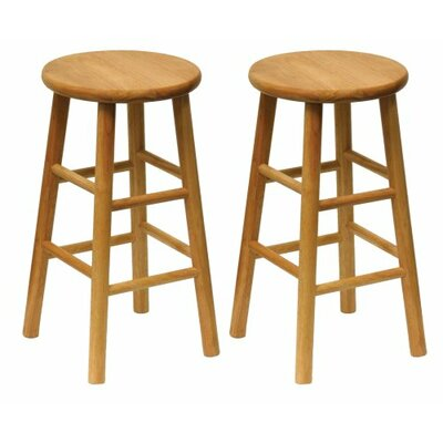 24 inch Bar Stool Finish: Natural
