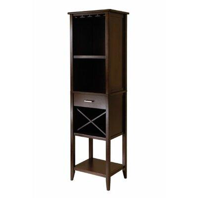 Palani Tower 4 Bottle Floor Wine Cabinet