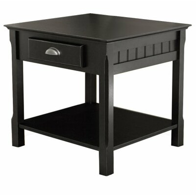 Wood 1 Drawer End Table
