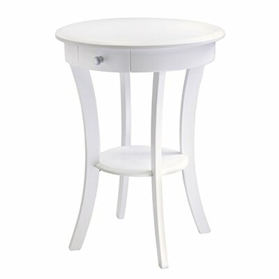 Sasha End Table Color: White