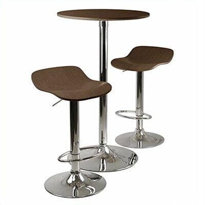 Kallie 3 Piece Pub Table Set Color: Cappuccino