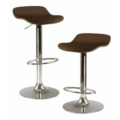 Kallie Adjustable Height Swivel Bar Stool Finish: Cappuccino