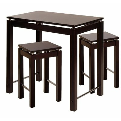 Linea 3 Piece Counter Height Dining Set