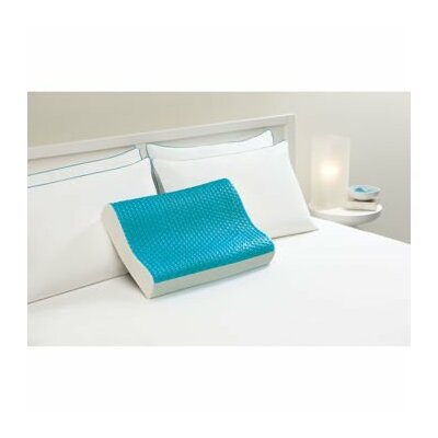 Hydraluxe Cooling Gel Contour Memory Foam Standard Pillow