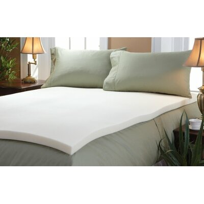 Memory Foam Mattress Topper Size: Queen