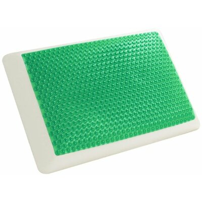 Hydraluxe Bubble Bed Memory Foam and Gel Fiber Pillow Color: Green