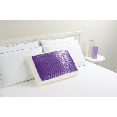 Bed Memory Foam and Gel Fiber Standard Pillow