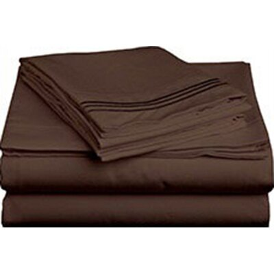 Triple Tack Microfiber Sheet Set Size: Full, Color: Chocolate