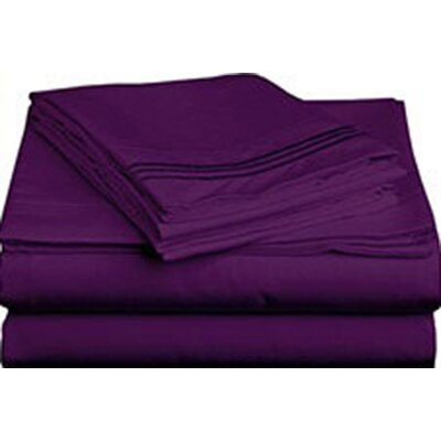 Triple Tack Microfiber Sheet Set Size: King, Color: Purple