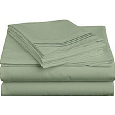 Triple Tack Microfiber Sheet Set Size: King, Color: Sage