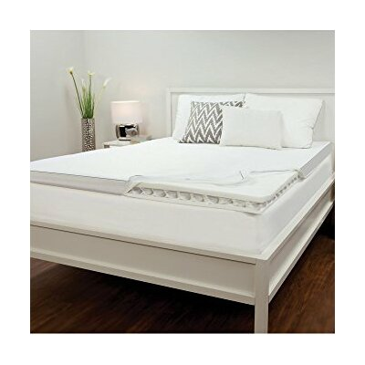 Memory Foam Mattress Topper Size: King