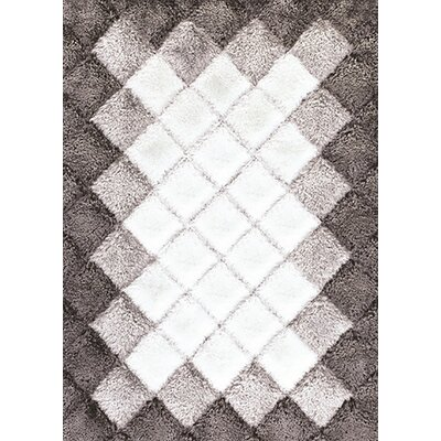 Tria Gray/Ecru Area Rug Rug Size: 5 x 8