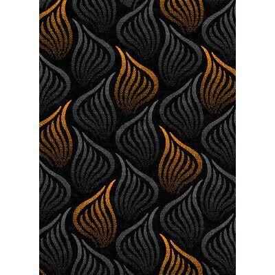 Tripoli Black/Orange Area Rug