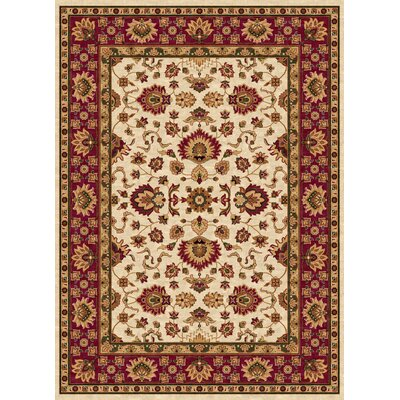 Ethnic Cream/Red Area Rug Rug Size: 5 x 8