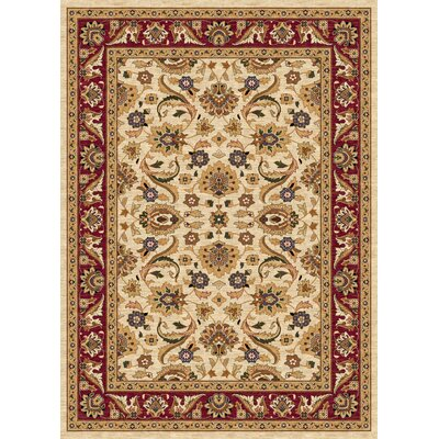 Ethnic Beige/Red Area Rug Rug Size: 5 x 8